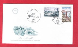 Luxembourg  // Enveloppe 1er Jour  //  La Moselle  // 14/9/67 - FDC