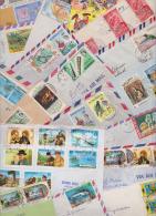 �LE DOMINIQUE - COMMONWEALTH OF DOMINICA - Beau lot vari� de 110 Enveloppes Timbr�es - Air Mail Covers - Letters