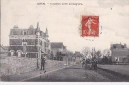 59 ASCQ  Route Animée  FEMMES élégantes  CHALETS Vers ANNAPPES   Timbrée 1907 - Sin Clasificación