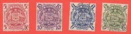 AUS SC #218-21  1949-50 Arms Of Australia CV $37.35 - 1937-52 George VI