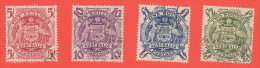 AUS SC #218-21  1949-50 Arms Of Australia CV $37.35 - Used Stamps