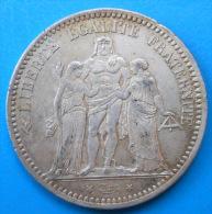 Ecu De 5 Francs Hercule 1873 A PARIS - Francia