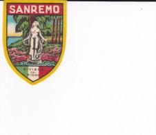 ECUSSON TISSU  SAN REMO RIVIERA DEI FIORI  STATUE - Blazoenen (textiel)