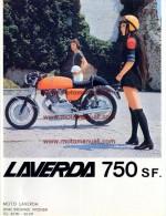 LAVERDA 750 GT - SF  1971  Depliant Originale Moto Genuine Motorcycle Brochure ProspekT - Motor Bikes