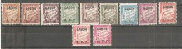 Serie Nº 1/11 Taxa Gabon - Gabon (1886-1936)