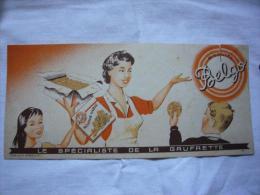 Buvard Pub Illustré Gaufrettes Belgo - Alimentaire