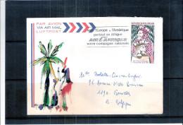 Lettre du Niger vers Belgique - Echecs - XXIe Jeux Olympiques Echiqu�ens Nice 1974 (� voir)