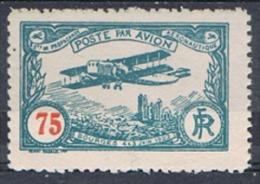 Vignette Meeting Aviation Bourges Juin 1922 - 75 C Bleu-vert - Gomme - Propagande Aéronautique - Biplan - Cathédrale - Avions