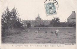 59 ANNAPPES  Maison De Retraite Des FRERES Des ECOLES Chrétiennes CHAMPS Animé Timbré1907 - Sin Clasificación