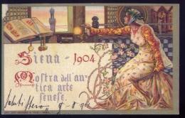 Siena - 1904 mostra dell'antica arte senese - riproduzione dall'originale - formato grande non viaggiata