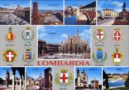Bergamo - brescia - como - cremona  - mantova - pavia - sondrio - varese - milano - 16 - formato grande non viaggiata