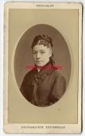 CDV Identifiée -jolie Femme Nommée Palmyre DREUX-photo Truchelut à Paris - Anciennes (Av. 1900)