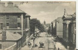 UNITED KINGDOM 1906 - VINTAGE POSTCARD NORTHERN IRELAND- LONDONDERRY:BISHOP STREET-ANIMATED MAILED TO ARGENTINA W 1 ST 1 - Londonderry