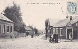 59 MARETZ   Rue De BUSIGNY Animée  Hommes à VELO Devant L´ ESTAMINET  Timbrée 1905 - Non Classificati