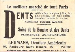PUBLICITÉ-OFFERT PAR LE CABINET DENTAIRE-LE PALAIS DU TROCADERO- VOYAGÉE 1905-BELLE & UNIQUE! GECKO. - Pubblicitari