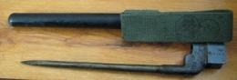 Baïonnette Clou N°4 MKII Fabrication Canada (après 2de GM, 5000 Ex) + Porte-fourreau Canadien - Armes Blanches