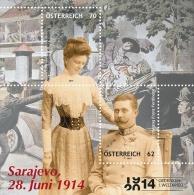 2014 Austria -100 Years Of  Start Of WWI - Saraevo Assasination - MS - Paper - MNH** - 1945-.... 2nd Republic