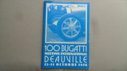 """(Automobiles Anciennes.....) - Livret Programme """" 100 BUGATTI """"  - MEETING INTERNATIONAL de DEAUVILLE, Octobre 1978"""