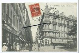 CPA - St Etienne- La Rue De La République - Saint Germain Laval