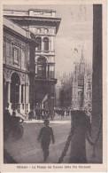 PC Milano - La Piazza Del Duomo Dalla Via Mercanti - 1922 (9547) - Milano (Milan)
