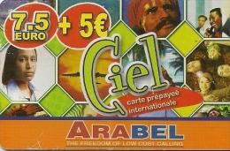 CARTE-PREPAYEE-7.5€+5€-CIEL-ARABEL-TBE    - - Autres Prépayées