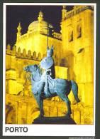 Portugal Entier Postal Porto Statue De Vimara Peres à Cheval Chevalier Portugal Stationery Oporto Knight Statue Horse - Ganzsachen