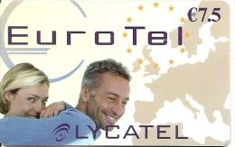 CARTE-PREPAYEE-7.5€-LYCATEL-EUROTEL+25/12/2006--TBE    - - Autres Prépayées