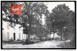 38, St Sauveur De Meilhan, Lot Et Garonne, Un Coin Du Bourg, Animée, église, Ed Ballion, 1913, Pli Angle Inf.D - France