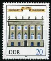 A07-09-2) DDR - Michel 2980 - ** Postfrisch - 20Pf Humboldt-Universität - [6] Repubblica Democratica