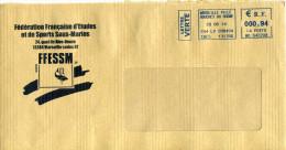 EMA MD 642208 Marseille ville Bouches du Rh�ne 13 sur enveloppe f�d�ration �tudes et sports sous-marins dauphin