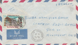1969 Air Mail ST VINCENT COVER Stamps 8c METHODIST CONFERENCE OVPT To Montserrat Religion Christianity - Christianity