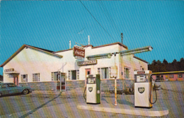 Baie Des Sables Québec - Matane - Hotel Motel Restaurant Au Martinet - BP Gas Station - 2 Scans - Unclassified