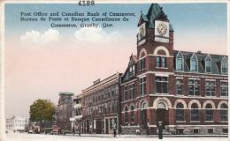 Granby Québec Canada - 1910-20 - Bureau Poste & Banque - Post Office & Bank - Animated - Pub. By Ed. Peltier - 2 Scans - Granby