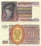 Burma 10 Kyats 1973 UNC P-58 - Myanmar