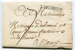 HUNINGUE LAC Du 17/11/1754 ( Lenain N°3) Taxée à 7 Pour Nancy ( 2 Scans) - Marcophilie (Lettres)