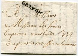 LYON LAC Du 23/05/1720 ( Lenain N°6) Pour PONT A MOUSSON ( 2 Scans) - 1701-1800: Precursors XVIII