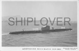 Sous-marin ARETHUSE (Marine Nationale) - Carte Photo Marius Bar - Bateau/ship/schiff - Krieg