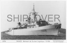 Bâtiment De Soutien RANCE (Marine Nationale) - Carte Photo Marius Bar - Bateau/ship/schiff - Warships