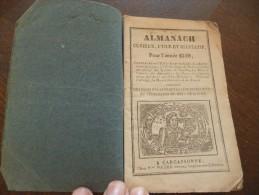 Almanach Curieux,utile Et Récréatif Pour L´année 1849.Carcassonne  Polère. Epheméride, Foire Du Languedoc,anédoctes,.. - Formato Piccolo : ...-1900