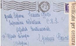 1942 CENT.50 VERIFICATO X CENSURA NUM.31 ANN.REGGIO EMILIA - 7. Trieste