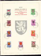COB 538/46 SUR CARTE SOUVENIR, SECOURS D' HIVER 1940, (PETITE DECHIRURE). (4SA29) - Souvenir Cards