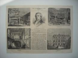 GRAVURE 1863. L'ECOLE IMPERIALE-CENTRALE DES ARTS ET MANUFACTURES. 4 GRAVURES AVEC EXPLICATIF......... - Stiche & Gravuren