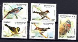 CAMBODGE 1994, OISEAUX, 5 Valeurs, Neufs / Mint. R1112 - Altri