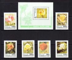 AZE-07    AZERBAIJAN 1996 ROSES