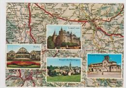 BOURBONNAIS - LAPALISSE - NATIONALE 7 - MULTIVUES - CP GF VOYAGEE - Ed. DU LYS - Lapalisse