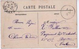 CP  France Carte Postale à Tonkin Timbre Semeuse 5c La Coquille Dordogne - Marcophilie (Lettres)