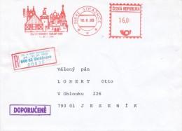 Czech Rep. / Occasional R- Label (1999/06) 696 62 Straznice: 72 Congress Of Esperanto Karlovy Vary (I7832) - Esperanto