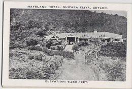 Maysland Hotel Nuwara Eliya Ceylon Vintage Postcard 137a - Sri Lanka (Ceylon)