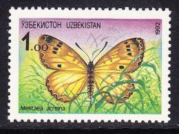 UZB-16UZBEKISTAN – 1992 BUTTERFLY - Uzbekistan