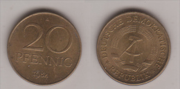 DDR , 20 Pfennig , Jäger 1511 B , 1984 A - [ 6] 1949-1990: DDR